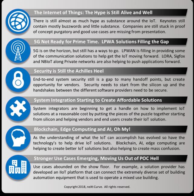 IoT World 2018 Takeaways
